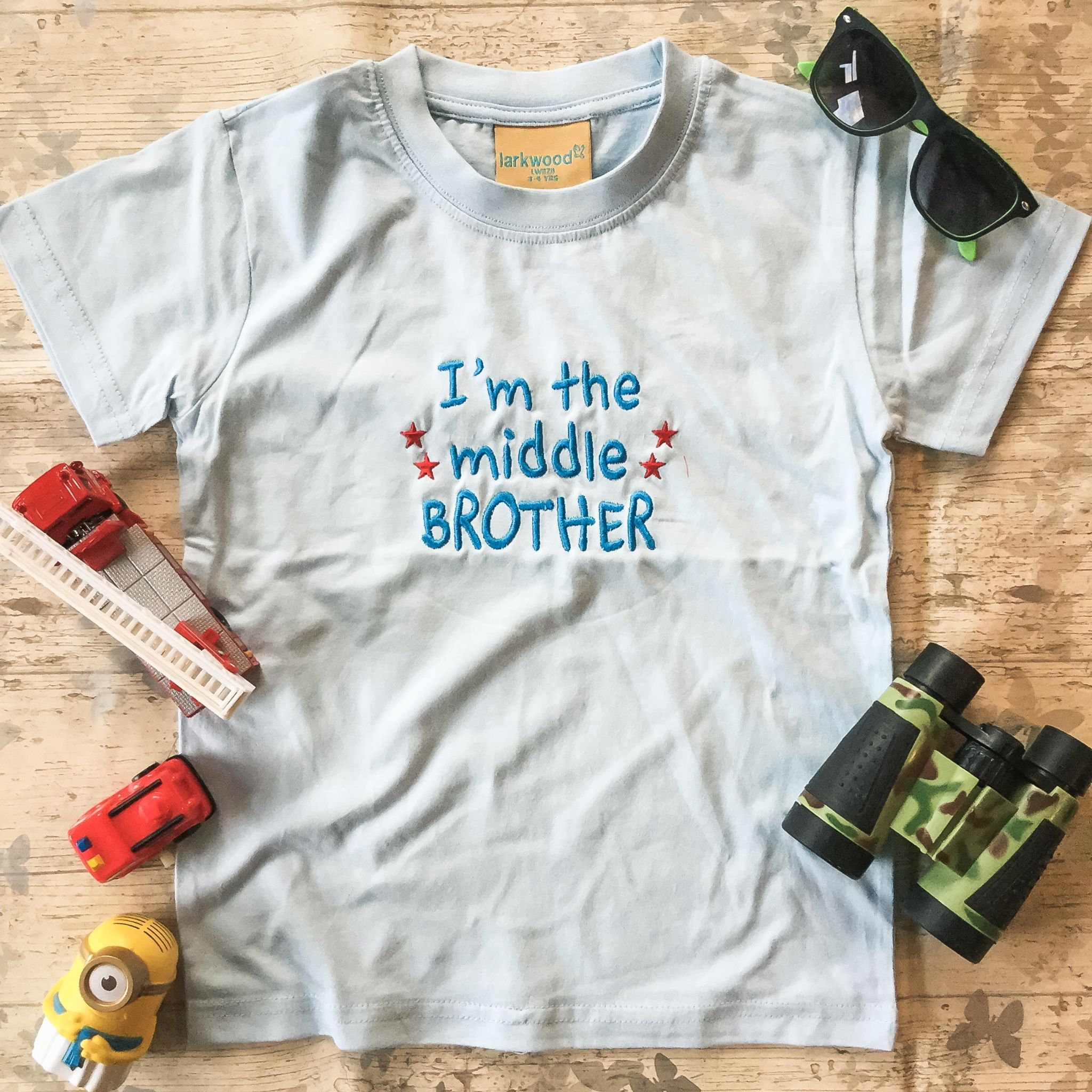 I M The Little Middle Big Brother Slogan T Shirt